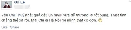 """Đầu năm 2015, Gil Lê bất ngờ thừa nhận """"yêu"""" cô bạn thân trên trang cá nhân. - Tin sao Viet - Tin tuc sao Viet - Scandal sao Viet - Tin tuc cua Sao - Tin cua Sao"""
