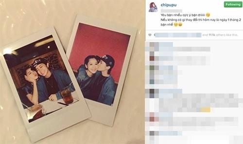 Mới đây nhất, trên trang instagram của mình, Chi Pu đăng tải một clip ngắn với hình ảnh thân mật tình tứ giữa mình và Gil Lê. Không chỉ ôm nhau, giọng ca của nhóm nhạc X5 còn hôn má Chi Pu rất tình cảm. Điều này khiến người hâm mộ tự hỏi phải chăng đây là sự khẳng định mối quan hệ của cặp đôi? - Tin sao Viet - Tin tuc sao Viet - Scandal sao Viet - Tin tuc cua Sao - Tin cua Sao
