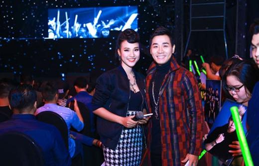 MC Nguyên Khang và Hoàng Oanh.