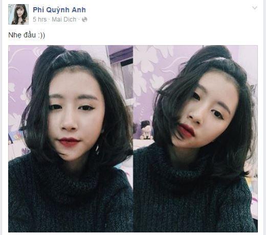 Quỳnh Anh Shyn đã đăng tải một bức ảnh khoe mái tóc mới của mình khiến nhiều fan bất ngờ và thích thú. Quỳnh Anh trông có vẻ trẻ trung hơn rất nhiều với mái tóc này.