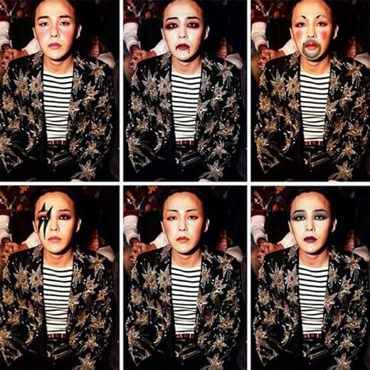 G-Dragon bất ngờ nghịch ngợm với gương mặt của mình và khiến fan vô cùng thích thú.