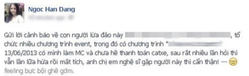 Hoa hậu Ngọc Hân, Quang Tèo, Bảo Thy... đau xót vì bị lừa tiền cát-xê - Tin sao Viet - Tin tuc sao Viet - Scandal sao Viet - Tin tuc cua Sao - Tin cua Sao