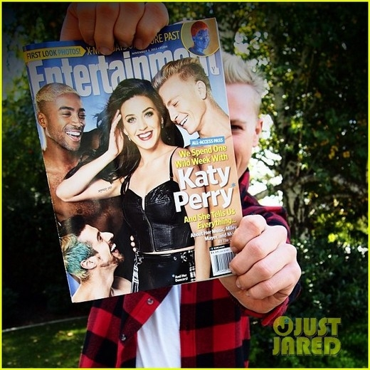 Scott Myrick trên bìa tạp chí cùng Katy Perry