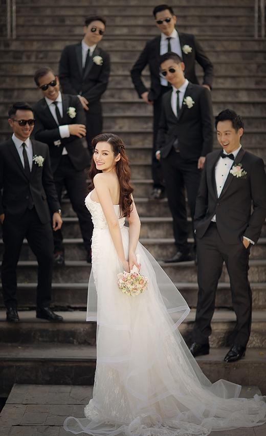 Trúc Diễm xinh đẹp, lộng lẫy trong bộ váy cưới. - Tin sao Viet - Tin tuc sao Viet - Scandal sao Viet - Tin tuc cua Sao - Tin cua Sao