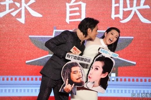 Lý Băng Băng cố tình cưỡng hôn Trần Khôn trước ống kính