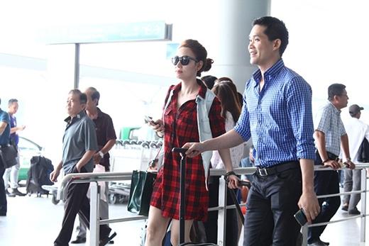 Ngân Khánh cùng chồng xuất hiện tại sân bay Tân Sơn Nhất TP HCM, sáng 6/2. - Tin sao Viet - Tin tuc sao Viet - Scandal sao Viet - Tin tuc cua Sao - Tin cua Sao