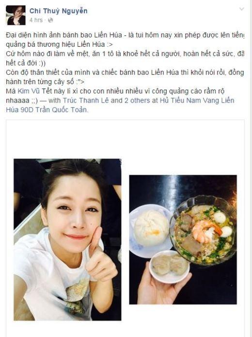 Mặc dù đã gần Tết nhưng hotgirl Chi Pu vẫn phải ở lại Sài Gòn để hoàn thành công việc. Dù vậy, niềm an ủi của cô nàng bây giờ chính là những người bạn thân. Chi Pu vô cùng tự hào khoe nhận được sự chăm sóc tận tình của gia đình Gil Lê.