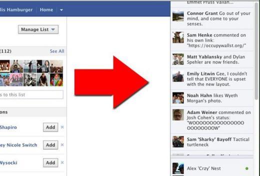 Năm 2011, News Ticker ra mắt cho phép người dùng cập nhật hoạt động mới của bạn bè trong khi vẫn đang làm những việc khác trên Facebook.