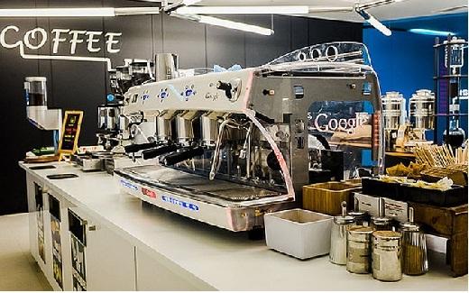 Máy pha cà phê nhãn hiệu Google là nơi được yêu thích trong tòa nhà.