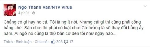 Dòng chia sẻ mới nhất của đả nữ Ngô Thanh Vân trên trang fanpage của mình. - Tin sao Viet - Tin tuc sao Viet - Scandal sao Viet - Tin tuc cua Sao - Tin cua Sao