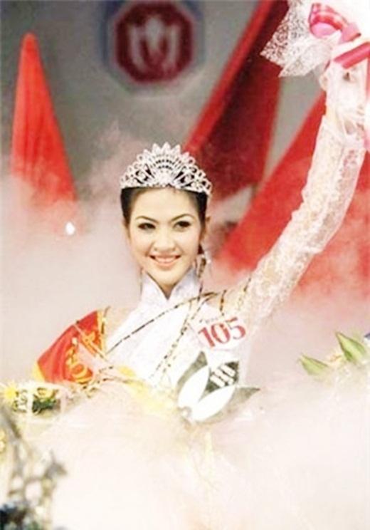 Phan Thu Ngân: Phan Thu Ngân đăng quang năm 2000 khi mới 20 tuổi.