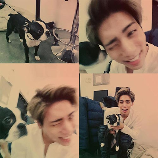 Jonghyun thích thú khoe hình chú cún và chia ẻ: Jjang Jjang dễ thương quá đi.