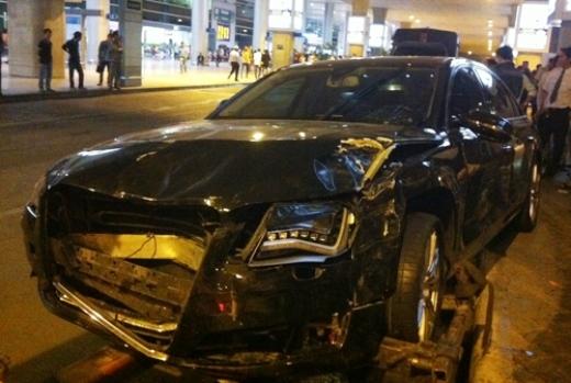 Chiếc xe gây tai nạn của ca sĩ nổi tiếng. Ảnh: An Nhơn