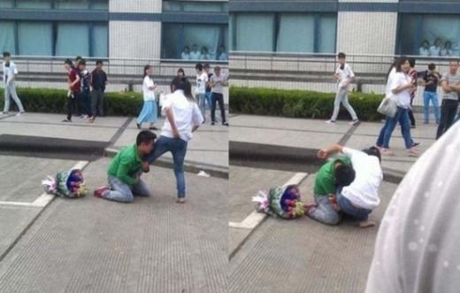 Anh chàng đeo bám dai dẳng khiến cô gái không sao rút chân ra được.