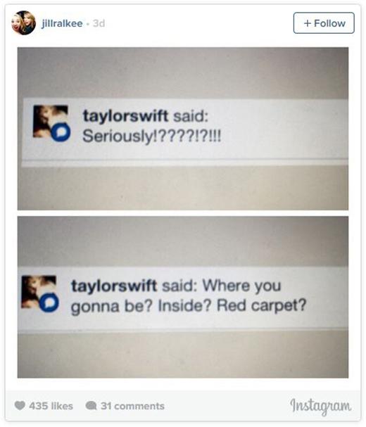 """Fan """"sướng rơn"""" khi được Taylor Swift đưa vào hậu trường Grammy"""