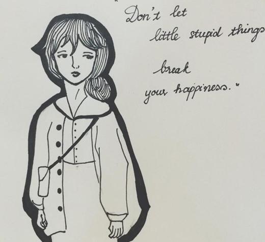 Ngoài ra, cô nàng hotgirl còn vẽ tranh cực cute.