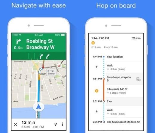 4.Google Maps: Apple đã loại bỏ Google Maps ra khỏi các thiết bị của hãng từ iOS 6 và thay thế bằng ứng dụng Apple Map. Tuy nhiên, Apple Map gặp khá nhiều phàn nàn từ phía người sử dụng mặc dù được hãng cập nhật dữ liệu và các tính năng mới. Google Maps vẫn là cách tốt nhất để bạn xem chỉ dẫn bản đồ trên iPhone với hệ thống dữ liệu chính xác, phong phú và nhiều tính năng thông minh.