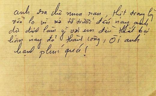 Những dòng thư cực kì dễ thương của Khải Anh viết cho vợ Đan Lê.