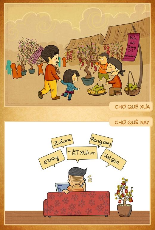 Có bạn nào đã từng đi chợ Tết cùng mẹ không?