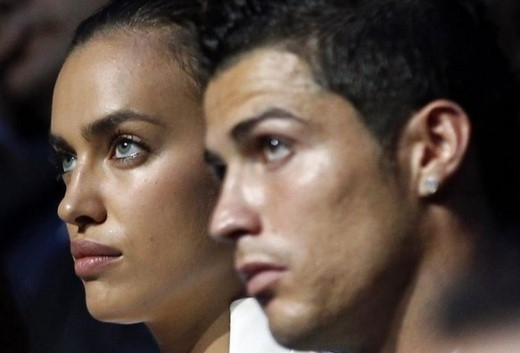 Ronaldo đã giở thói vũ phu với Irina? Ảnh: Yahoo Sports
