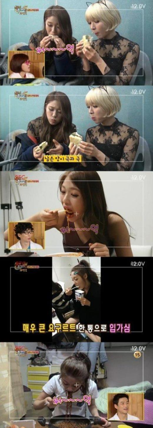 Seolhyun (AOA) được mệnh danh là trùm ăn vặt. Và đây cũng là niềm vui của cô nàng.