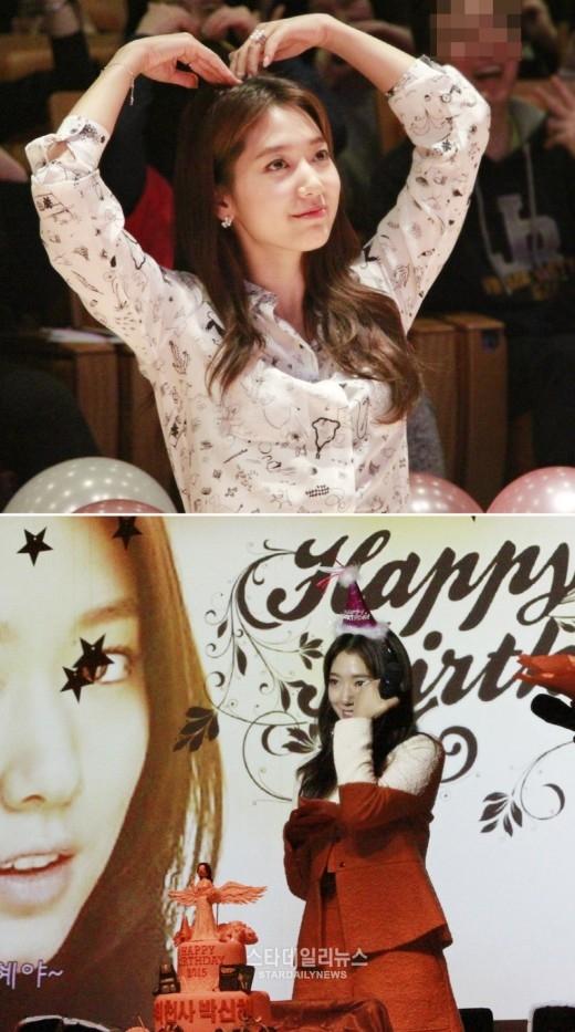 Park Shin Hye rạng rỡ đón sinh nhật cùng fan