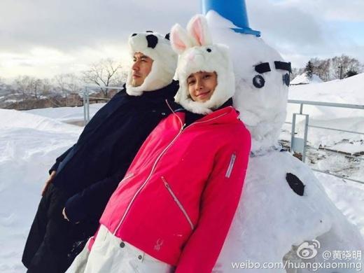 Cả hai cùng đi trượt tuyết dịp năm mới