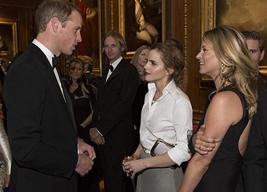 Emma Watson có cơ hội diện kiến hoàng tử William vào năm ngoái