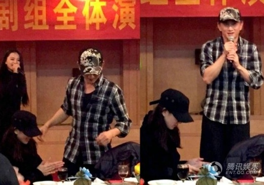 Ngô Kỳ Long - Lưu Thi Thi khoe cảnh vợ chồng hạnh phúc bên đoàn làm phim