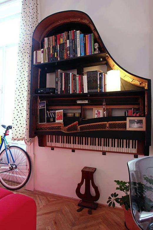 Thêm một ý tưởng tuyệt vời nữa từ chiếc đàn Piano bỏ không.