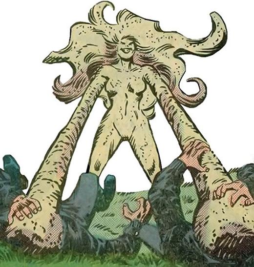 Quicksand là nhà khoa học người Việt Nam từng nghiên cứu tại lò phản ứng hạt nhân, thế nhưng một tai nạn xảy ra đã biến cơ thể cô thành dạng cát. Vì quá căm phẫn nên Quicksand quyết định quay về tấn công phòng thí nghiệm và đánh bại cả sự ngăn chặn của thần sấm Thor nhờ vào sức mạnh vật lý vô song. Tuy nhiên, một kẻ có tên Mongoose đã thuyết phục Quicksand rằng hắn sẽ giúp cô lấy lại được cơ thể bình thường như ban đầu, miễn là hãy chiến đấu với Thor thêm lần nữa để hắn có được mẫu tế bào từ vị thần Bắc Âu này, may mắn thay cô đã thoát khỏi được hắn không lâu sau đó.