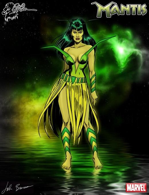 Mantis là một trong những siêu anh hùng nổi bật của vũ trụ Marvel, cô đứng về phía chính nghĩa thuộc hội Guardian of the Galaxy, Biệt đội không tên Starlord và cả Avengers. Mantis sở hữu rất nhiều năng lực mạnh mẽ như thần giao cách cảm, có thể xuyên không qua các hành tinh, điều khiển thực vật, dự đoán tương lai, sức khỏe bền bỉ hay thậm chí còn tự phục hồi sức khỏe của chính mình. Mantis đã được nhà sản xuất phim chú ý tới và trở thành vị siêu anh hùng người Việt đầu tiên xuất hiện trên màn ảnh rộng. Điểm đặc biệt nữa ở cô gái này đó chính là mối tình với đội trưởng Mỹ - Captain America.
