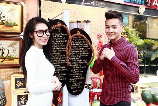 Ngô Kiến Huy tự tay vẽ thư pháp tặng Khổng Tú Quỳnh - Tin sao Viet - Tin tuc sao Viet - Scandal sao Viet - Tin tuc cua Sao - Tin cua Sao