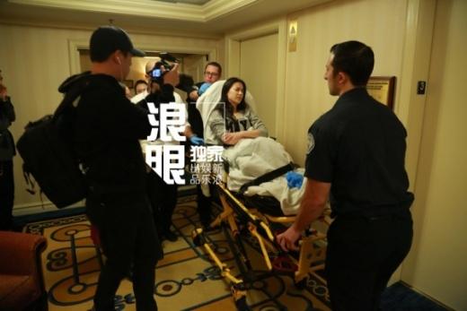 Nữ diễn viên khó chịu ra mặt sau khi bị ngất xỉu