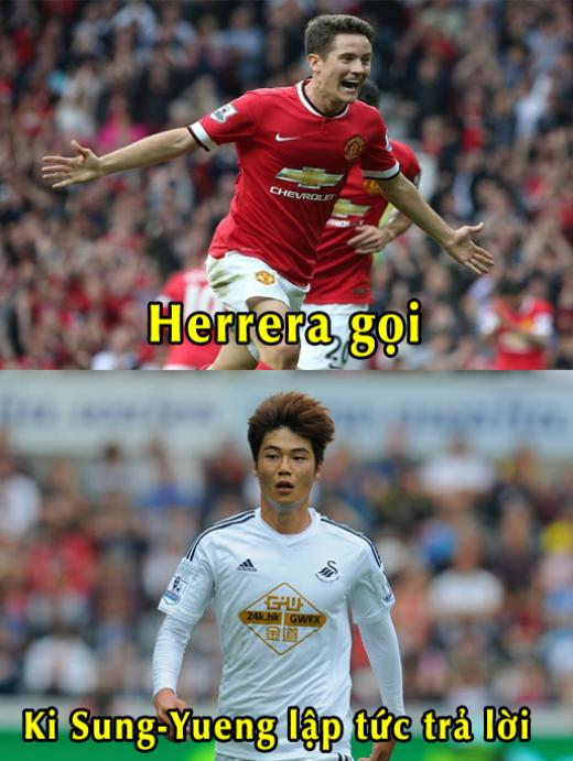 Tiền vệ Ki Sung Yoeng là người tung nhát kiếm đầu tiên vào Quỷ đỏ trong trận đấu giữa Swansea và M.U thuộc vòng 26 Premier League.
