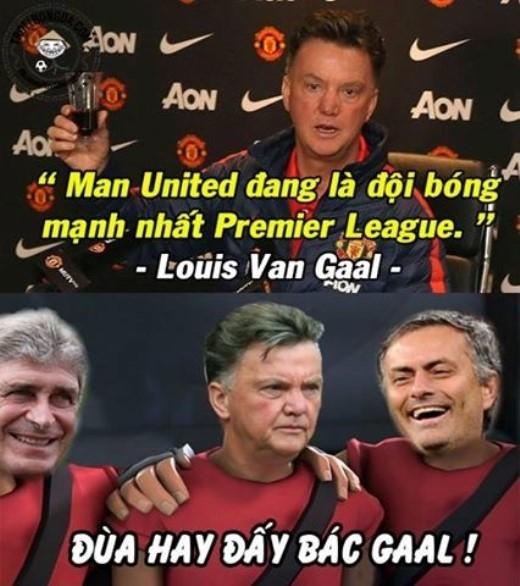 HLV Louis Van Gaal từng nói M.U là đội bóng mạnh nhất Premier League sau quãng thời gian thăng hoa cuối năm 2014. Tuy nhiên, tình cảnh của bầy Quỷ đỏ hiện nay đang rất thê thảm.
