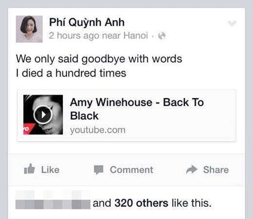 Trong khi mọi người khá vui tươi dù Tết kết thúc thì hot girl Quỳnh Anh Shyn lại đầy tâm trạng khi đăng trên trang cá nhân của mình một bài hát chia ly buồn bã. Không biết chuyện gì đã xảy ra cho cô nàng xinh đẹp của chúng ta?