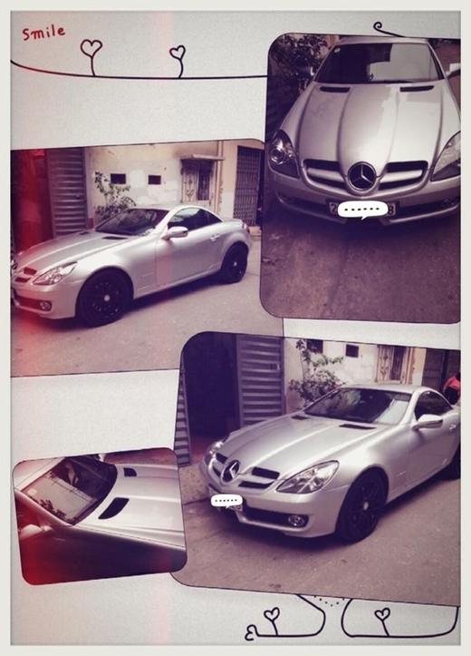 Chiếc Mercedes SLK 200 với giá 2,5 tỷ đồng là món quà mà chân dài Hà thành mới tậu vào dịp đầu năm 2014. - Tin sao Viet - Tin tuc sao Viet - Scandal sao Viet - Tin tuc cua Sao - Tin cua Sao