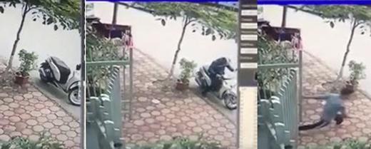Thanh niên rượt theo tên trộm xe nhưng không kịp.