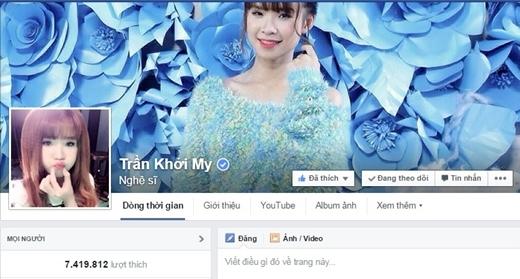 Fanpage của Khởi My có hơn 7 triệu người theo dõi - Tin sao Viet - Tin tuc sao Viet - Scandal sao Viet - Tin tuc cua Sao - Tin cua Sao