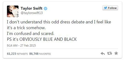 """Taylor Swift, Julianne Moore, Lucy Hale cũng """"hoảng loạn"""" vì chiếc váy ma quái"""