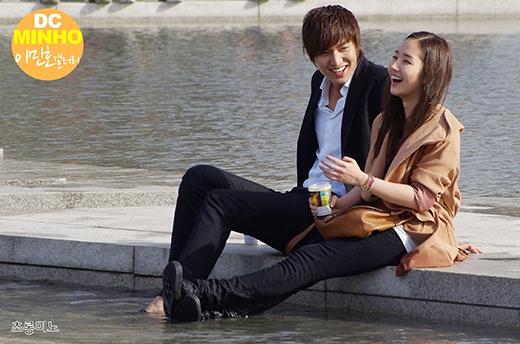 Lee Min Ho và Park Min Young từng là một cặp đẹp đôi của showbiz Hàn