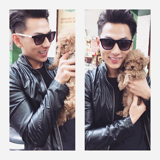 Là một người cực đam mê về chó, Isaac không bao giờ từ nan trước bất kỳ em cún đáng yêu nào. Mới đây, anh chàng còn khoe bức ảnh với vẻ mặt phấn khích khi được ẵm em cún bông nâu xám trong tay. Có vẻ không riêng gì Isaac mà rất nhiều fan của anh chàng cũng xiu vẹo trước chú cún đáng yêu này.