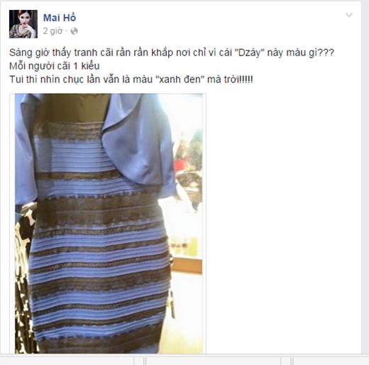 Mai Hồ khẳng định chắc chắn là thấy chiếc váy có màu xanh - đen. - Tin sao Viet - Tin tuc sao Viet - Scandal sao Viet - Tin tuc cua Sao - Tin cua Sao