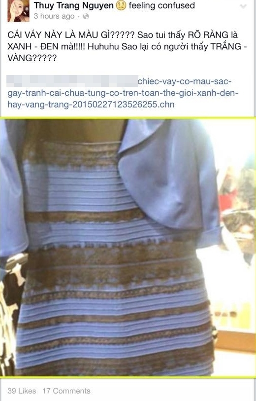 Trang Pháp cho rằng cô thấy chiếc váy này có màu xanh - đen. - Tin sao Viet - Tin tuc sao Viet - Scandal sao Viet - Tin tuc cua Sao - Tin cua Sao