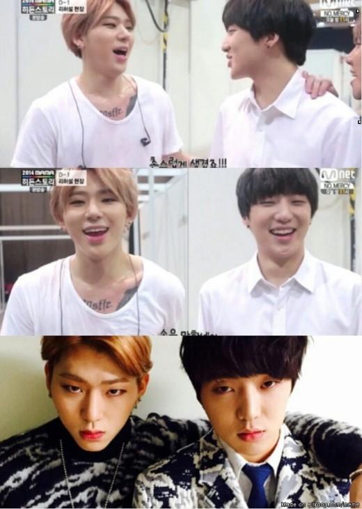 Dù khác nhóm nhưngZicovàSeungyoon (Winner)lại sở hữu nhiều đặc điểm tương tự trên gương mặt và tình bạn khắng khít của cả hai khiến các fan ngưỡng mộ.