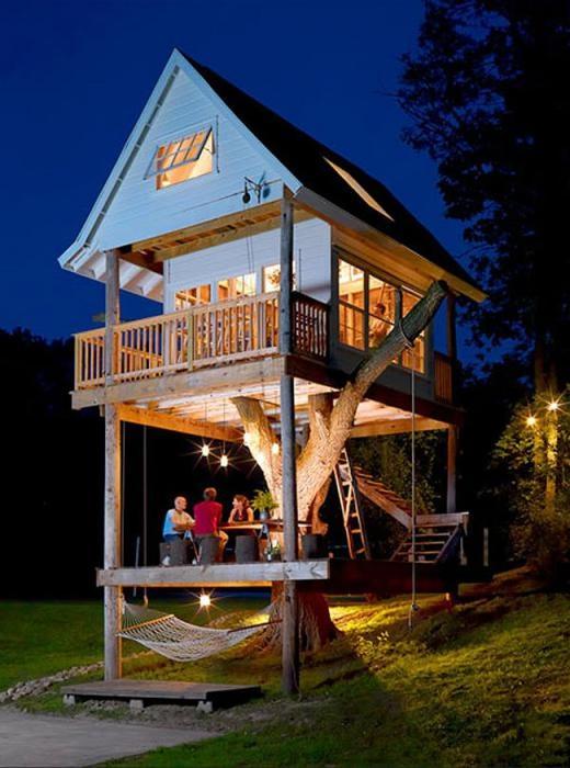 Căn nhà cây ở sân sau thích hợp cho cả người lớn và trẻ nhỏ.