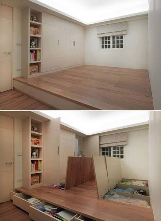 Ngăn chứa đồ dưới sàn nhà