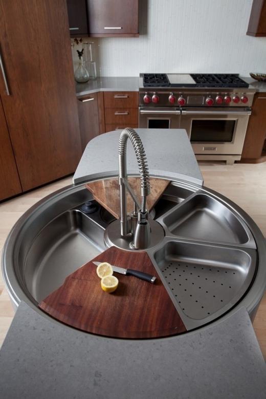 Bồn rửa bát xoay đa chức năng