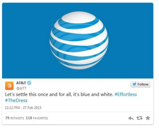 Mạng điện thoại di động AT&T: 'Hãy cùng giải quyết vấn đề một lần cuối thôi, nó có màu xanh và trắng.'